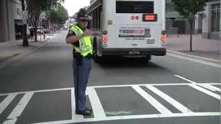 """DNC Street Cops Challenge to """"Dance Off"""" While Directing Traffic in Charlotte"""