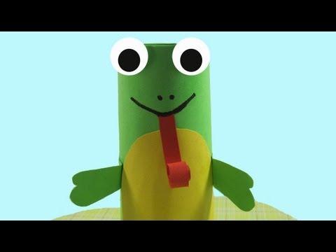 Episodio 551- Cómo hacer una ranita con un tubo de papel higienico