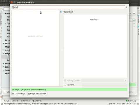 Как создать через PyCharm разные виртуальные окружения версий Django и Python?
