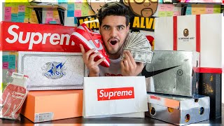 EPIC $2,500 HYPEBEAST HAUL! Off-white Dunks, Supreme, Bape and Fear of God!