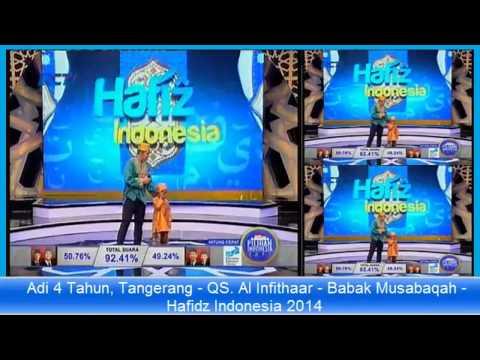 Hafidz Babak Musabaqah Adi 4 Tahun, Tangerang QS Al Infithaar