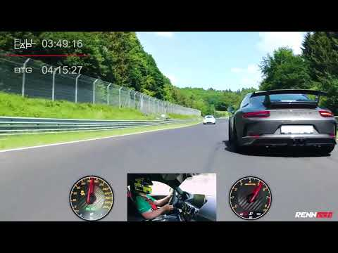 AMG GT R powered by RENNtech, record at the Nürburgring Nordschleife. Full onboard-footage. 7:04