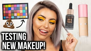 TESTING NEW MAKEUP! FULL FACE OF FIRST IMPRESSIONS + YELLOW EYE MAKEUP TUTORIAL!