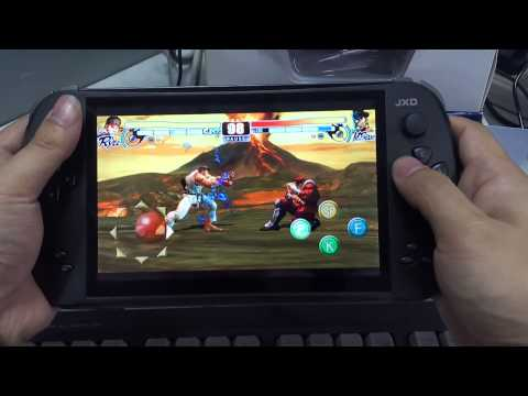 【07】Street Fighter IV(Ryu VS M Bison)Playthrough Review-Arcade Emulator on Android JXD S7800B