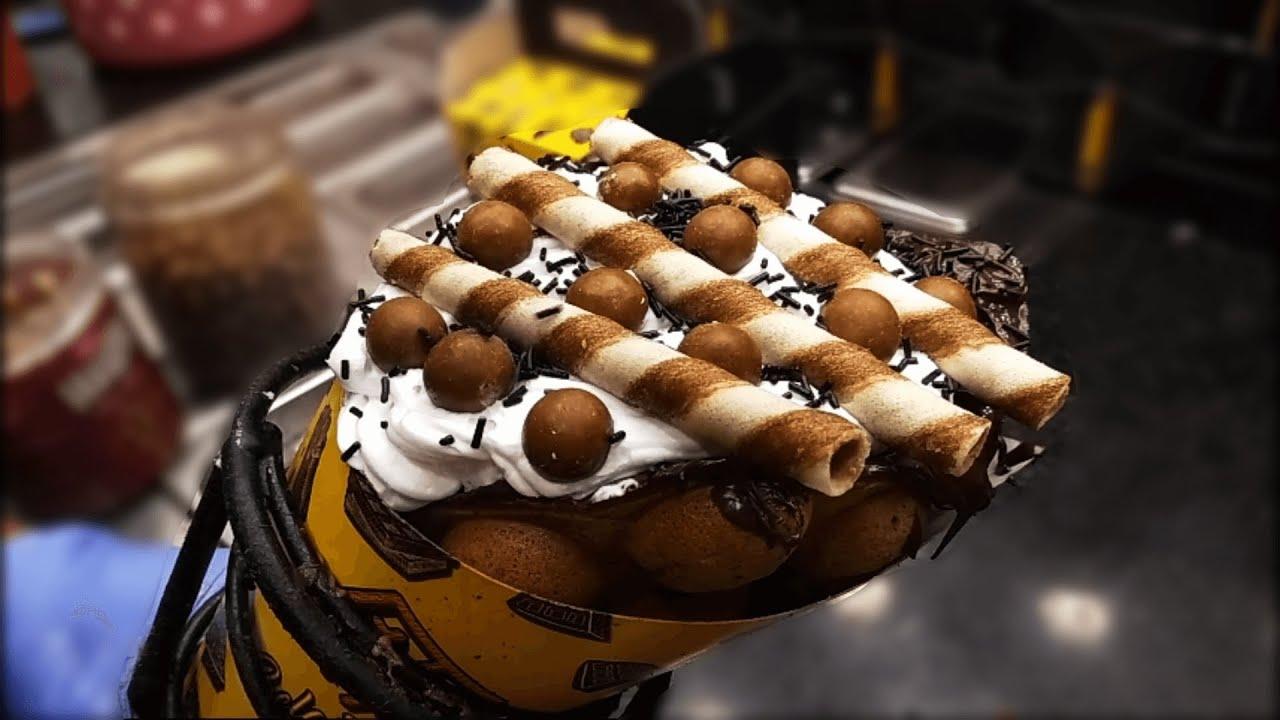 HEAVY CREAMED BUBBLE WAFFLES MAKING   Inside Belgian Waffle Factory   Dessert Episode