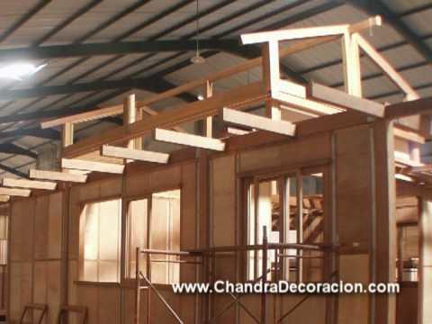 Chandra proceso fabricaci n casas de madera alicante youtube for Tejados de madera casas