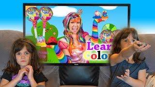 Twins watch Princess Lollipop Teach Colors with Pikmi Pops!