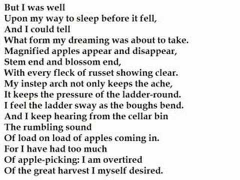 Robert Frost After Apple Picking Poem