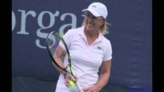 Martina proposes, plays doubles
