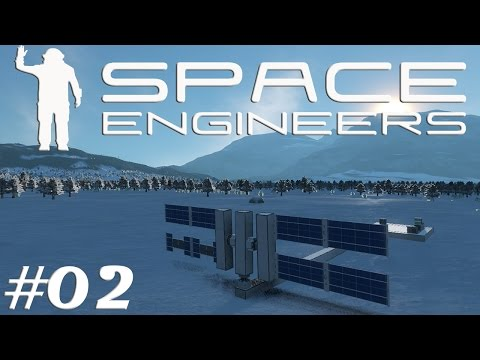 Let's Play Space Engineers S2E02 Sun Tracking Solar Panels