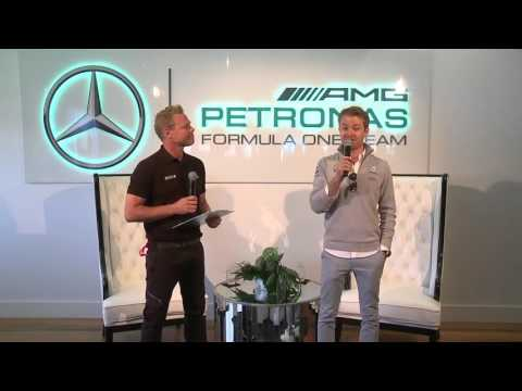 Nico Rosberg's interview in the Mercedes-Benz Star Lounge at the 2016 Australian Grand Prix.