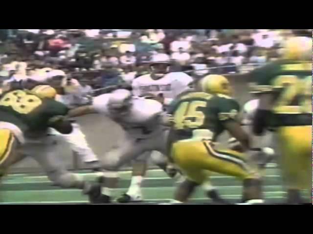 Oregon CB Daryle Smith makes a leaping interception vs. WSU 9-07-1991