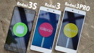 Xiaomi Redmi 3s vs. Redmi 3 vs. Redmi 3 PRO - Detailed view & Performance test