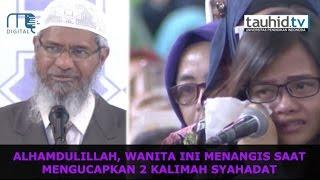Download Lagu Wanita Ini Menangis Saat Bersyahadat Di Acara Dr. Zakir naik Gratis STAFABAND