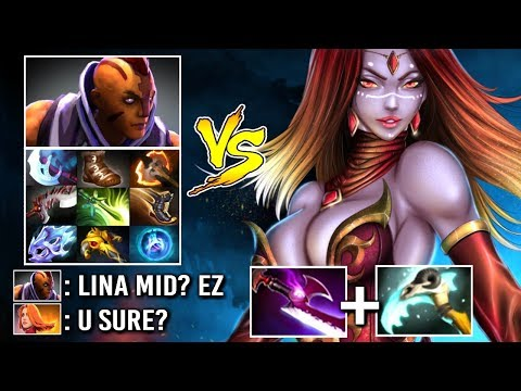 EPIC GAME! CARRY LINA vs PRO Anti-Mage Late Game Battle Silver Edge vs Counter Pick WTF Dota 2