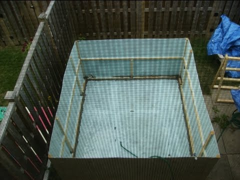 Build Your Own Cardboard Swimming Pool DIY Howto