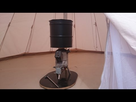 Rocket Stove - Woodgas Stove for Tent heating (rocket mass heater)2
