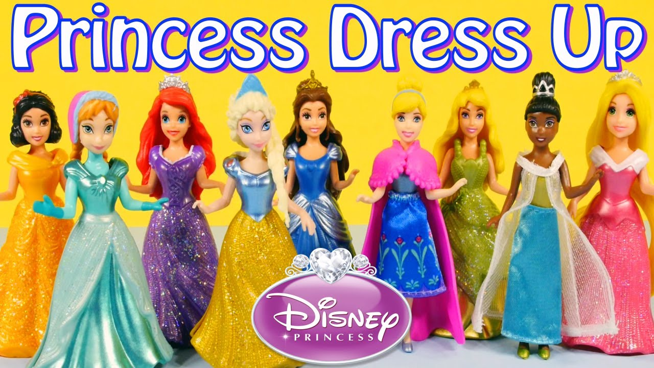 Princess magiclip collection frozen movies queen elsa and anna dress