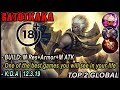 cheater | Gatotkaka Amazing Gameplay&Build By TOP 2 Global [ snow969 ]- Mobile Legends