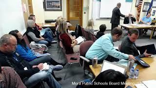 Mora Public Schools, School Board Meeting, Nov. 15, 2018