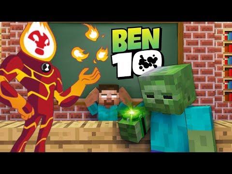 Monster School : BEN 10 OMNITRIX GAME CHALLENGE - Minecraft Animation