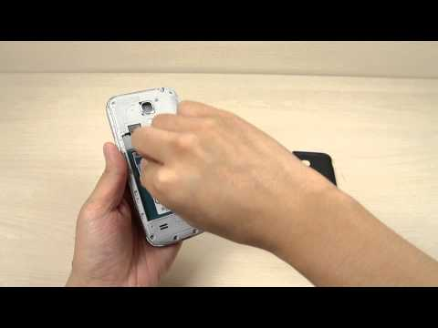 How to insert and remove the Micro SIM card on Samsung Galaxy S4 mini