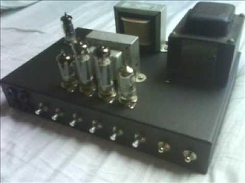 Guitar tube amp 2x EL84 15W. homebuilt