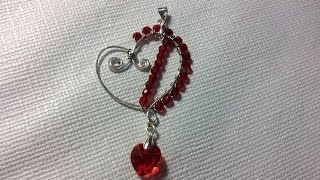 (Tutorial) Wire Wrapped Heart Pendant (Video 123)
