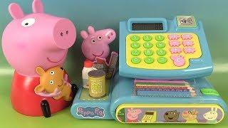 Peppa Pig Fait les Courses Jouet Caisse Enregistreuse et Mallette d'Activités