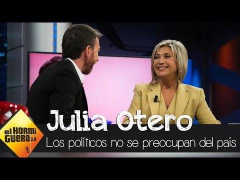 """Julia Otero: """"El problema con los políticos es que no les preocupa España"""" - El Hormiguero 3.0"""