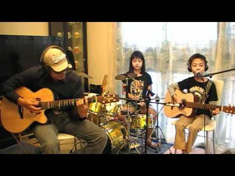 Nirvana - Smells Like Teen Spirit (8yo kid acoustic cover for Kurt Cobain ...