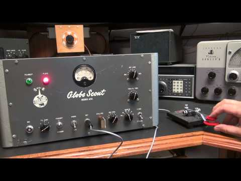 WRL Globe Scout 65A Ham Radio 807 Tube Transmitter Demo
