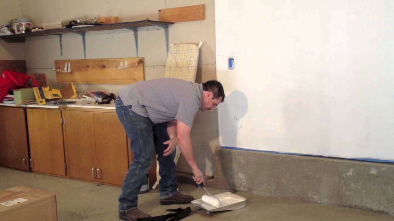 Dream Garage Space Project Update Paint Dry Wall White