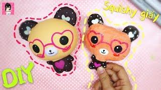 Làm SQUISHY GIẤY GẤU cute / DIY PAPER SQUISHY Ami DIY