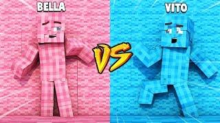 CHŁOPAK VS DZIEWCZYNA ZABAWA W CHOWANEGO W MINECRAFT (Hide and Seek)   Vito vs Bella