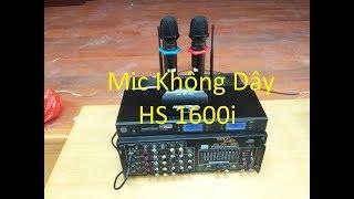 Hướng dẫn bạn lắp đặt sử dụng MIC KHÔNG DÂY MUSIC WAVE HS 1600i - cách kết nối với amply