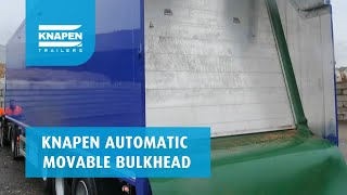 Automatic movable bulkhead Knapen Trailers Video
