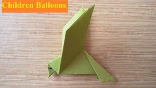 Gấp giấy Origami hình con vật - Cách xếp con chim bằng giấy đơn giản