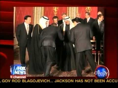 Obama Bows to the King of Saudi Arabia. But Not to Queen Elizabeth II. His Lord and Master?