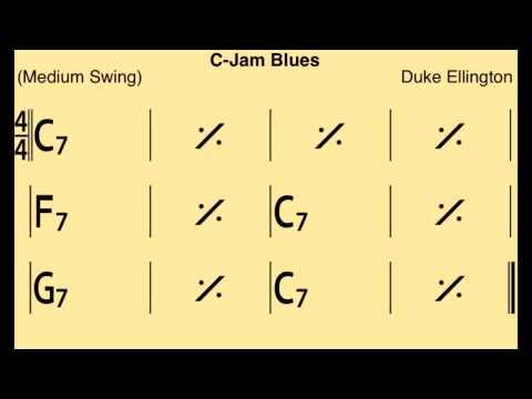 C-Jam Blues - Backing Track / Play-along