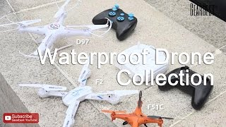 Waterproof Drone Collection: GPTOYS F51C, F2, D97 6CH - Gearbest.com