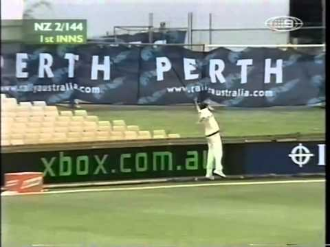 Lou Vincent 104 Stephen Fleming 105 vs Australia 3rd test 2001/02