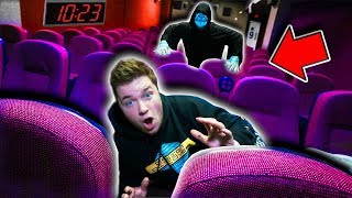 GAME MASTER 24 HOUR HIDE And SEEK Challenge! In Abandoned Movie Theater