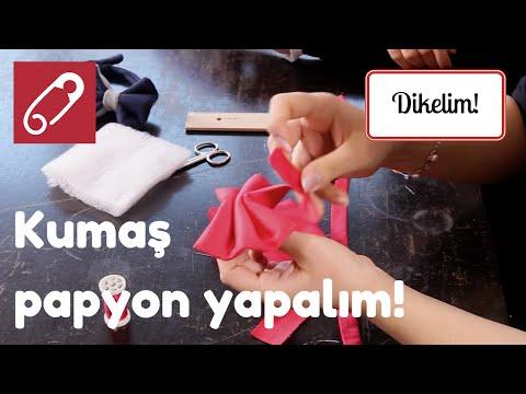 10marifet - Kumaş papyon nasıl yapılır?