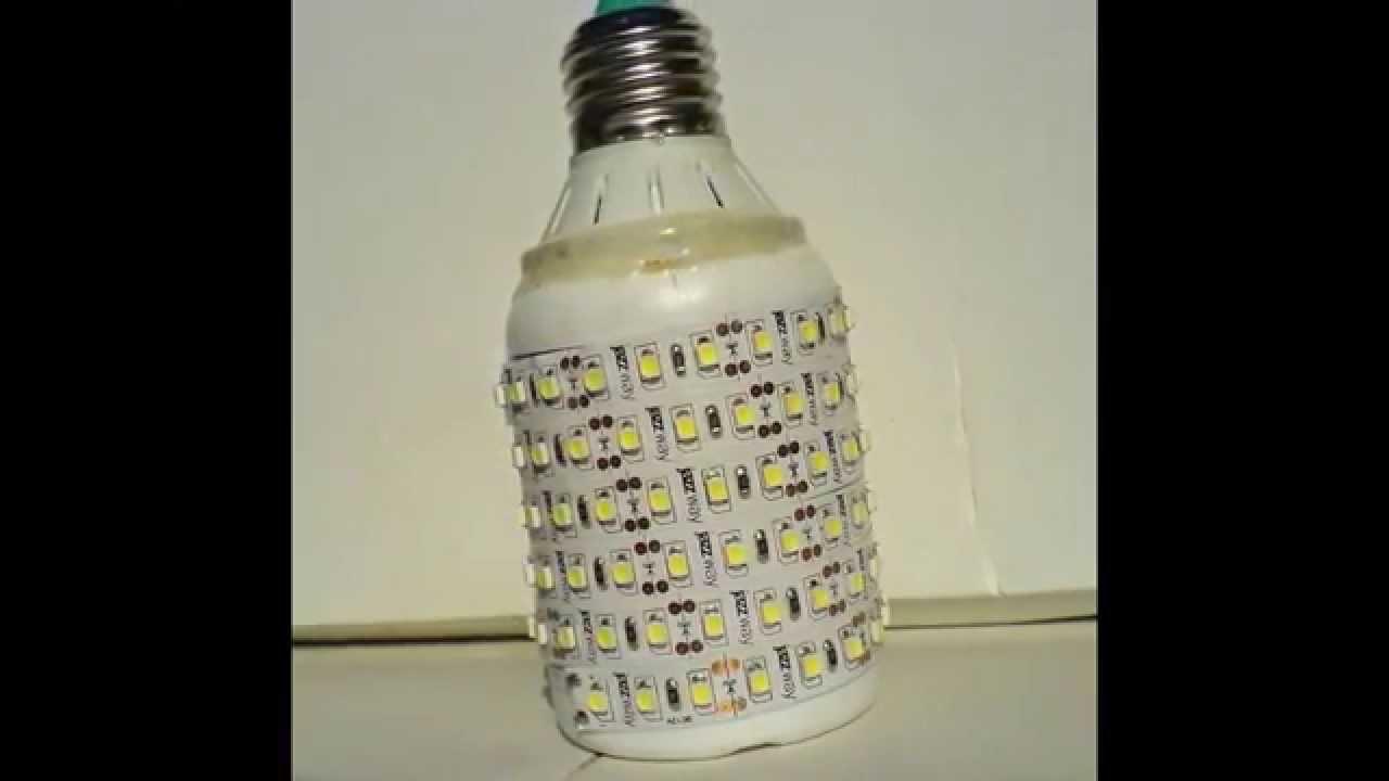Светильник из светодиодных лент своими руками