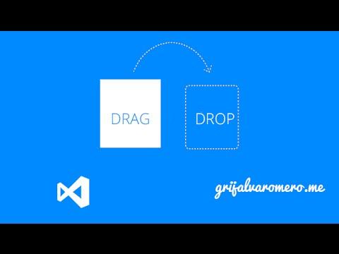 Drag and drop как сделать
