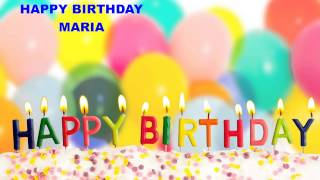 Maria - Birthday cakes - Happy Birthday