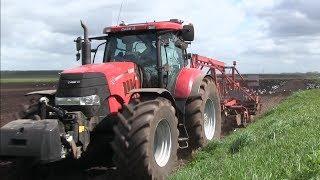 Land bewerken met Case-IH 225  Landb.Dijkhuis Muntendam