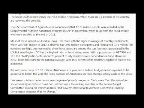 America sets a new record: 15 percent of Americans on food stamps