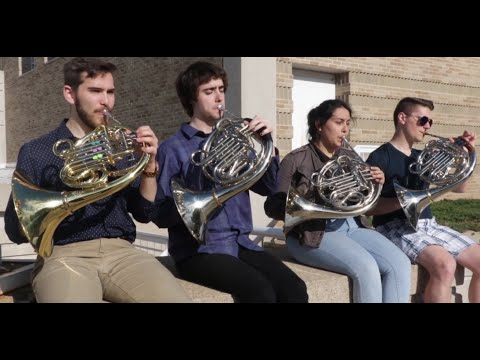 "Lawrence Univ Studio Horns (LUSH) perform ""Lucky"""